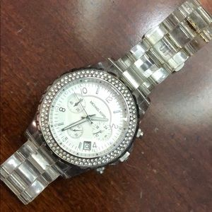 Michael Kors lucite watch